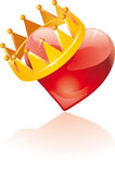 Glass crowned heart Royalty Free Stock Photography