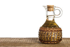 Glass cruet for oil Stock Photos