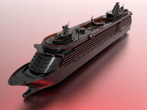 Glass cruise ship Royalty Free Stock Photo