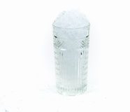 A glass with crushed ice Stock Images