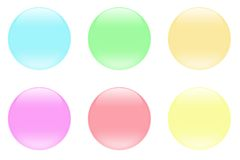 Glass Crystal Aqua Buttons Stock Images