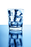 Glass with crystal clear ice cubes Royalty Free Stock Image