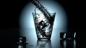 Glass of crystal pure water Stock Images