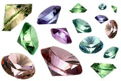 Glass crystals royalty free stock photos