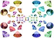 Glass crystals Stock Images