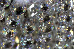 Glass crystals background Royalty Free Stock Images