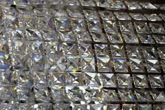 Glass crystals background Stock Image