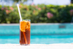 Glass of Cuba Libre cocktail Royalty Free Stock Photo