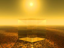 Glass cube Stock Image