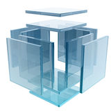 Glass cube Stock Images