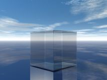 Glass cube Royalty Free Stock Image
