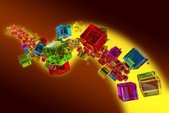 Glass cubes Stock Photos