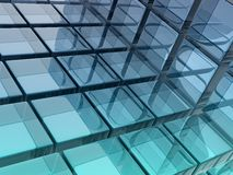 Glass cubes Stock Images