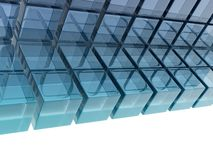 Glass cubes Stock Photos