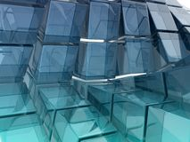 Glass cubes Royalty Free Stock Images