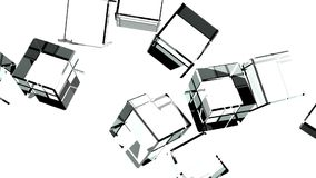 Glass Cubes Abstract On White Background.  stock footage