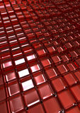 Glass cubes background. 3D render of grid of glass cubes Stock Images