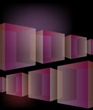 Glass cubes background. Pseudo 3d transparent cubes in perspective rows Stock Image