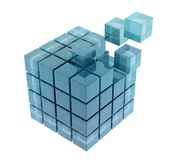 Glass cubes. On white background Stock Image