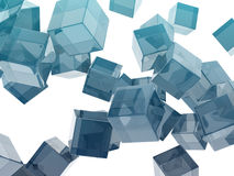 Glass cubes. On white background Royalty Free Stock Image