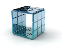 Glass cubes Royalty Free Stock Photo