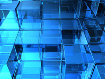 Glass cubes Stock Image
