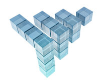 Glass cubes. On white background. digitally generated image Stock Photos