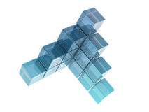 Glass cubes. On white background. digitally generated image Royalty Free Stock Photos