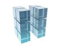 Glass cubes Royalty Free Stock Photography