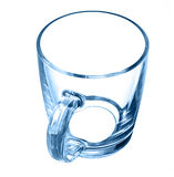Glass cup black Stock Images