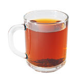 Glass cup with black tea Stock Photography