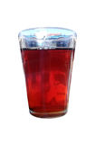 Glass cup of black tea Royalty Free Stock Image