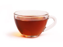 Glass cup of black tea Stock Photography
