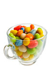 Glass cup with candies Stock Photography