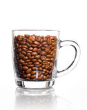 Glass cup of coffee Royalty Free Stock Photo
