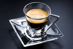 Glass Cup Coffee Espresso Saucer Stock Photo