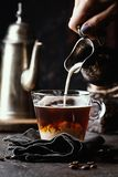 Glass cup of coffee royalty free stock image
