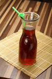 Glass cup of cola with straw Royalty Free Stock Photo