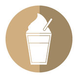 Glass cup cold coffee fresh shadow Royalty Free Stock Photography