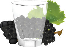 Glass cup with fruit Royalty Free Stock Photo