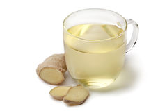 Glass cup of ginger tea Royalty Free Stock Photos