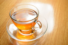 Glass Cup of Green Tea Stock Image