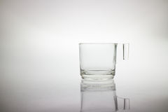 Glass cup  with handle Stock Photo