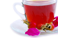 Glass cup of herbal tea Stock Images