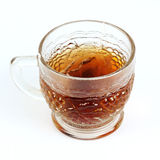 Glass cup of hot tea Stock Photo