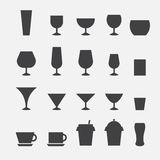 Glass and cup icon Royalty Free Stock Photos