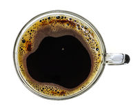 A glass cup of instant coffee Stock Images
