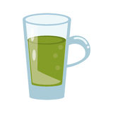 Glass cup juicy refreshment. Vector illustration eps 10 Royalty Free Stock Photo