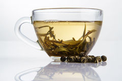 Glass Cup Of Fresh White Tea Royalty Free Stock Photography