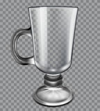 Glass cup on a plaid background Stock Images